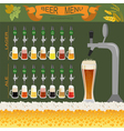 Beer menu set creating your own infographics vector