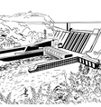 Hydroelectric power station vector
