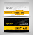 Set of black and orange business cards vector