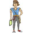 Handsome man cartoon vector