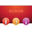 Icon set music color vector