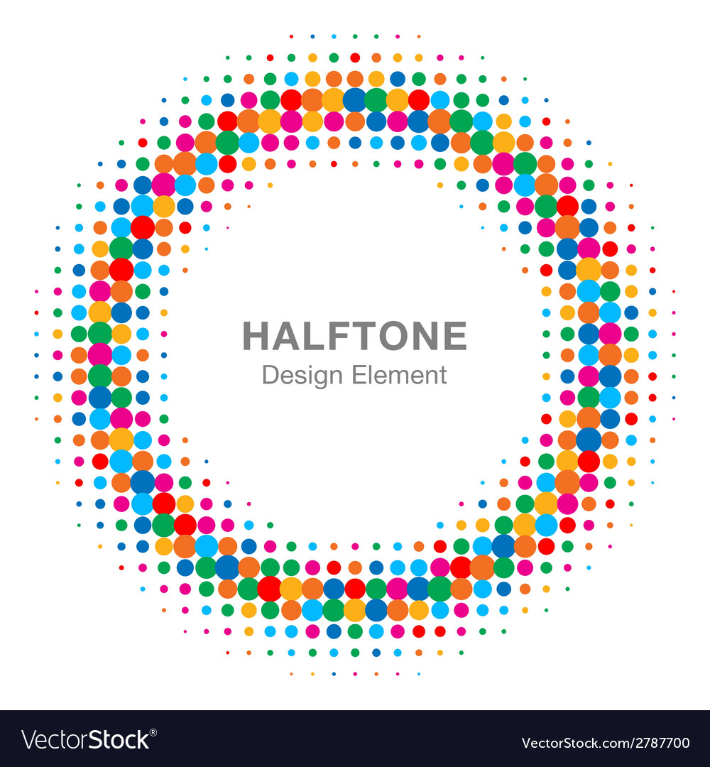 Colorful bright abstract halftone design element vector | Price: 1 Credit (USD $1)