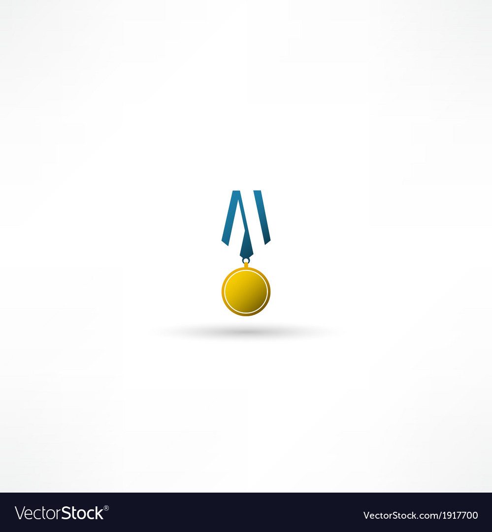 Golden medal isolated vector | Price: 1 Credit (USD $1)