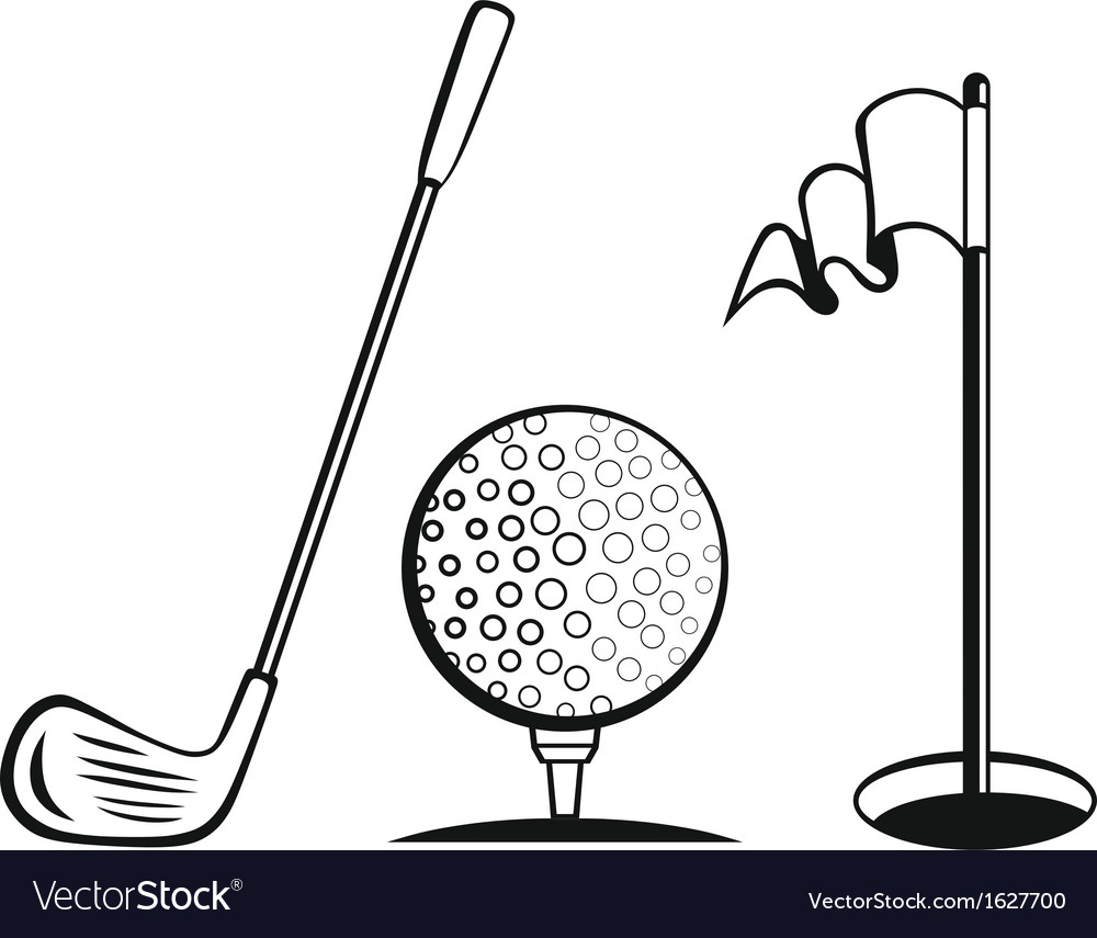 Golf icon set vector | Price: 1 Credit (USD $1)
