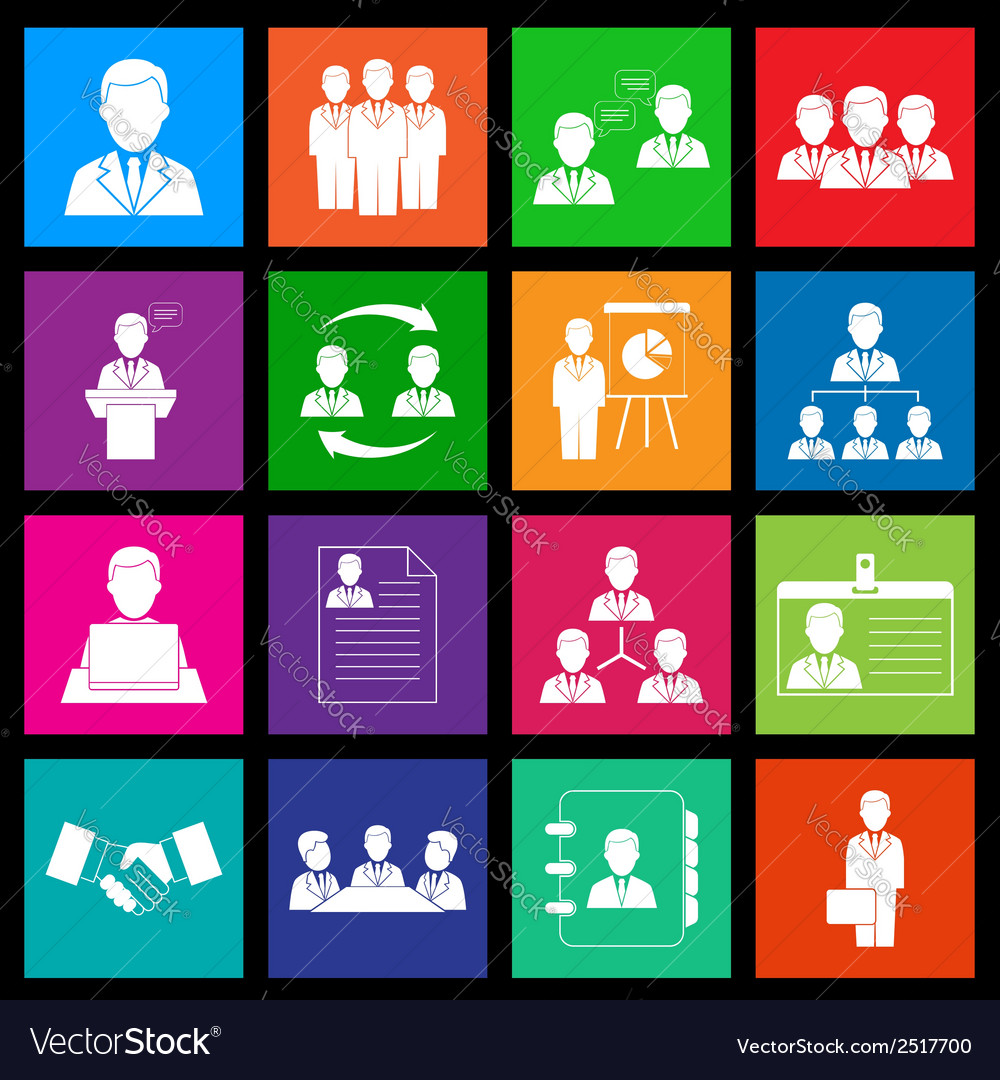 Human resources and management icon series in vector | Price: 1 Credit (USD $1)