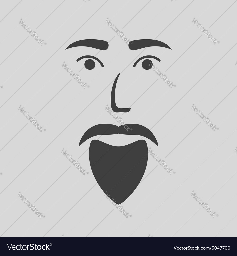 Icon of a bearded man vector | Price: 1 Credit (USD $1)