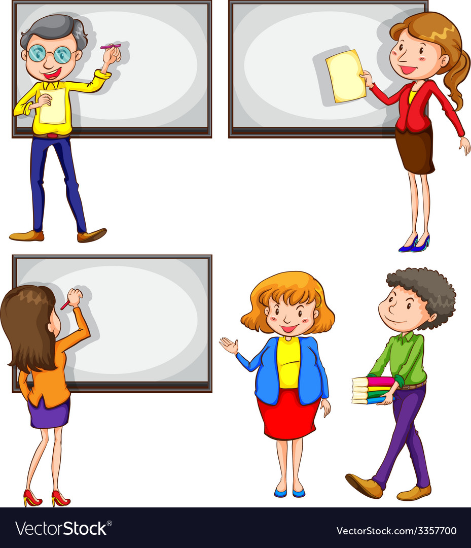 Male and female teachers vector | Price: 3 Credit (USD $3)