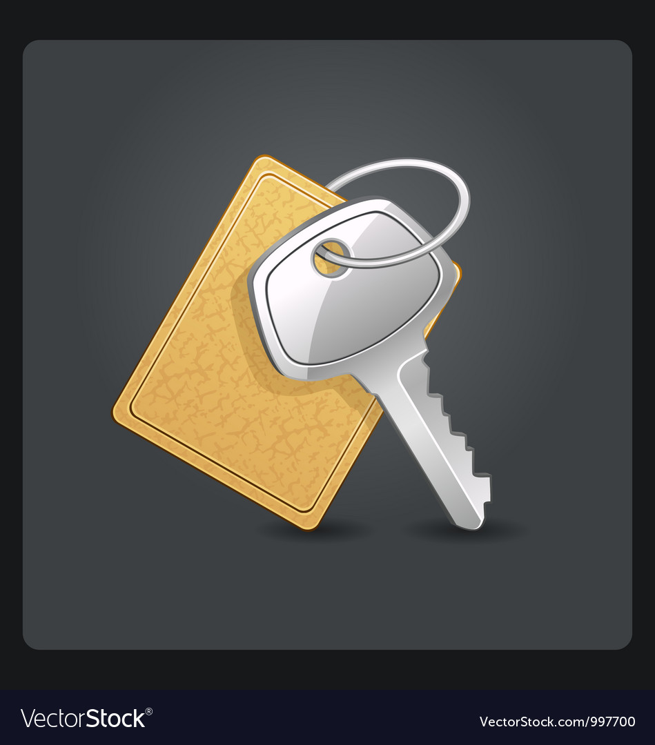 Metal keys with keychain vector | Price: 3 Credit (USD $3)