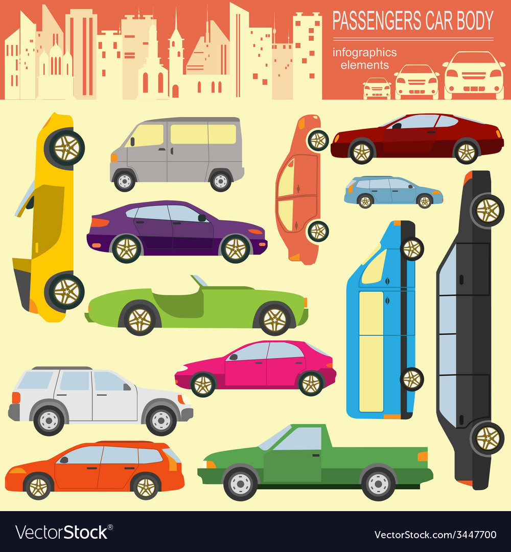 Passenger car transportation infographics vector | Price: 1 Credit (USD $1)