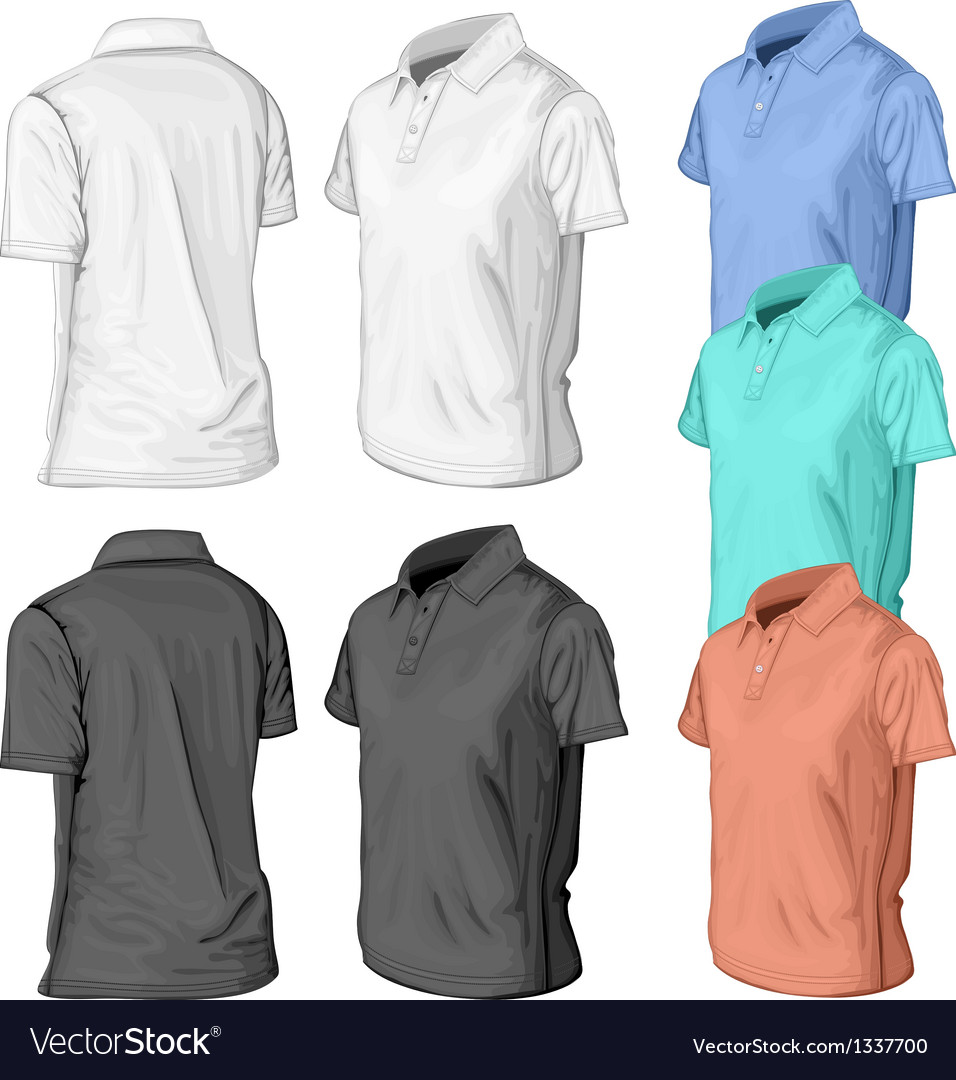 Polo-half-turned-color vector | Price: 3 Credit (USD $3)