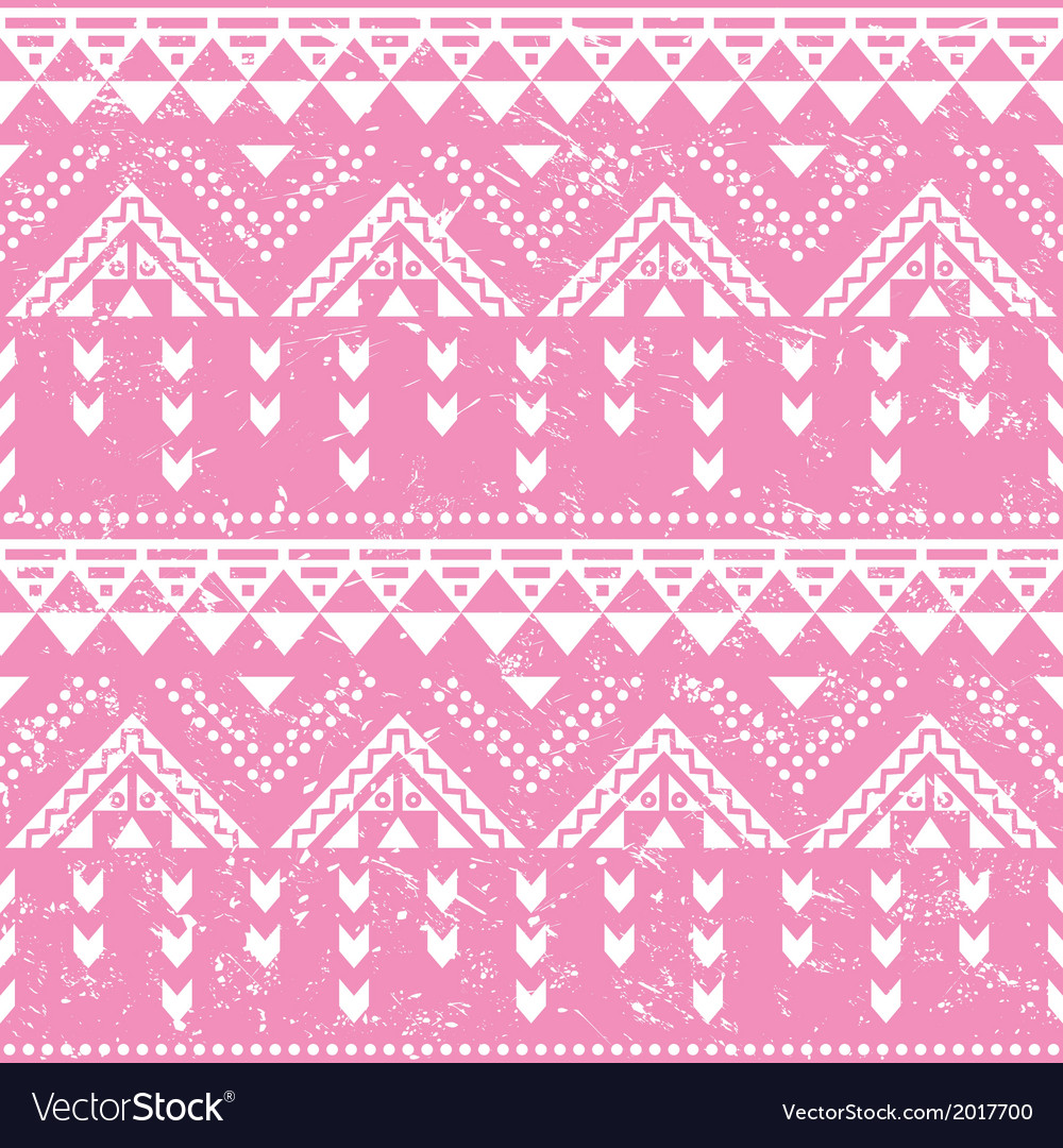 Tribal pattern pink aztec print - old grunge vector | Price: 1 Credit (USD $1)