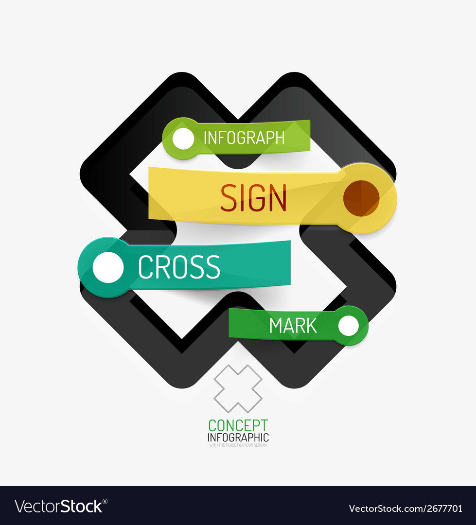 Cross shape infographic concept vector | Price: 1 Credit (USD $1)