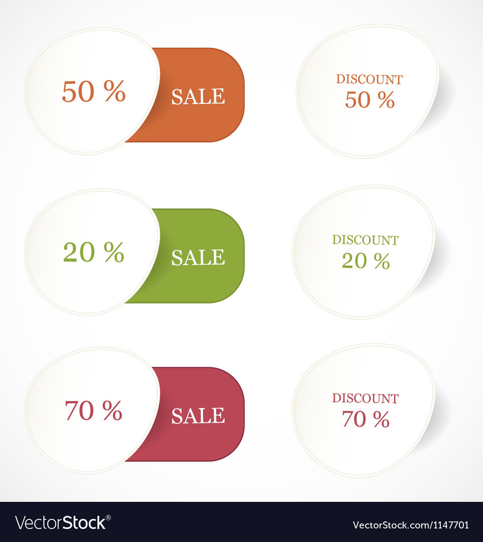 Discount labels and stickers vector | Price: 1 Credit (USD $1)