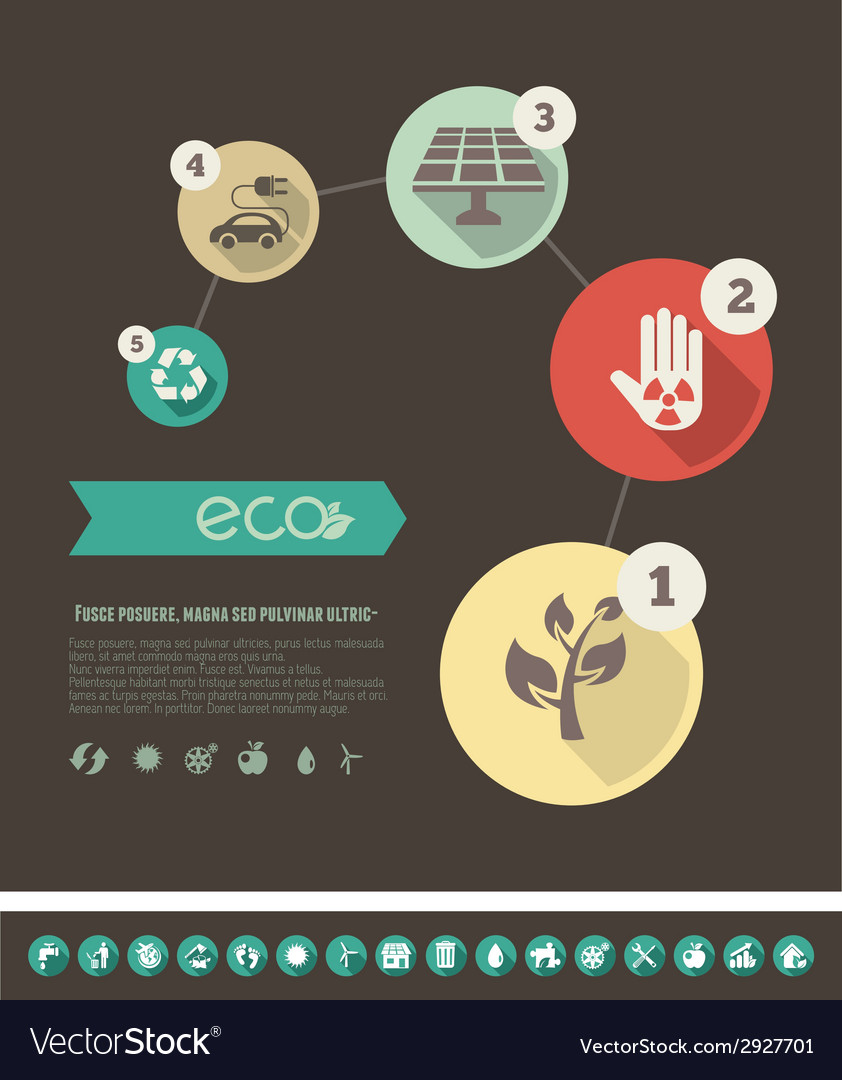 Ecology infographic template vector | Price: 1 Credit (USD $1)