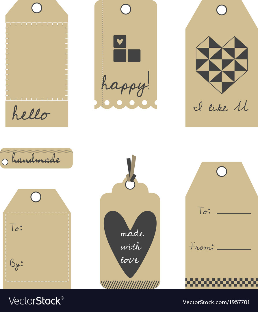 Gift tags or labels set vector | Price: 1 Credit (USD $1)