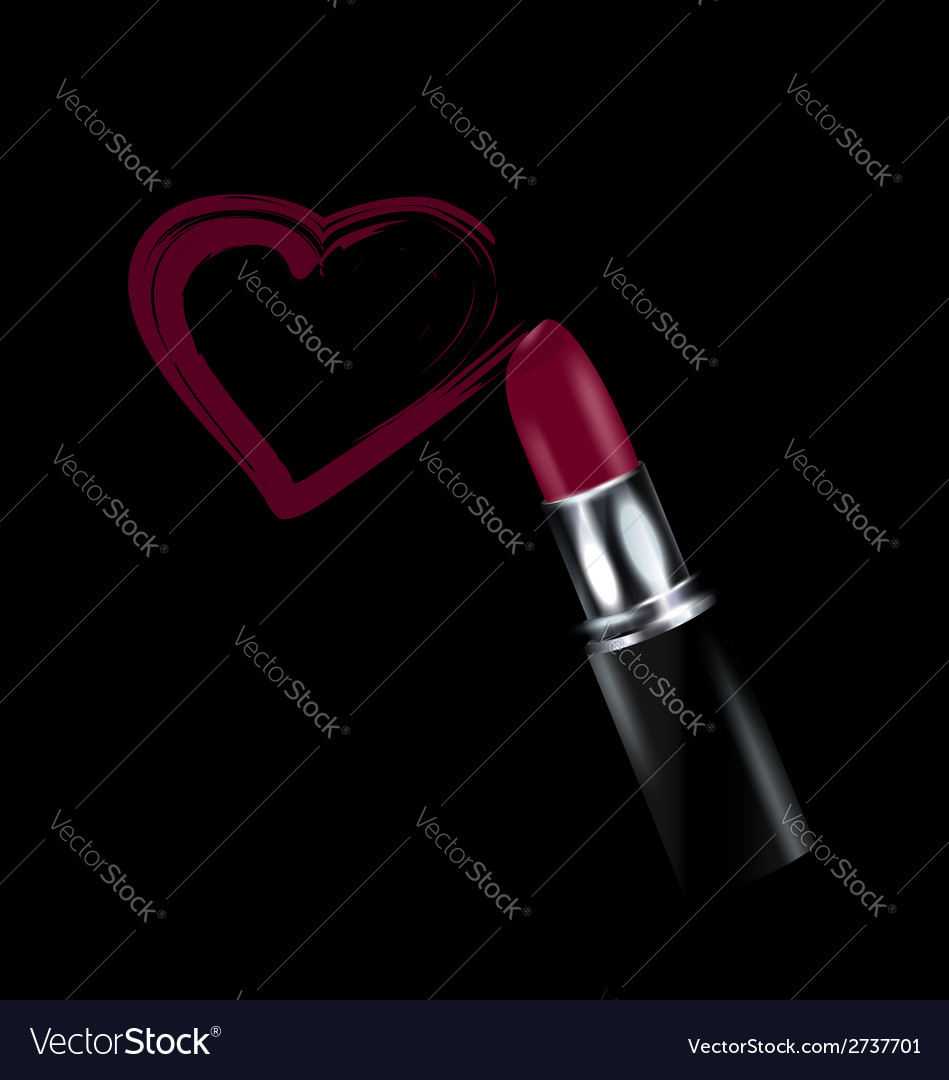 Heart and lipstick vector | Price: 1 Credit (USD $1)
