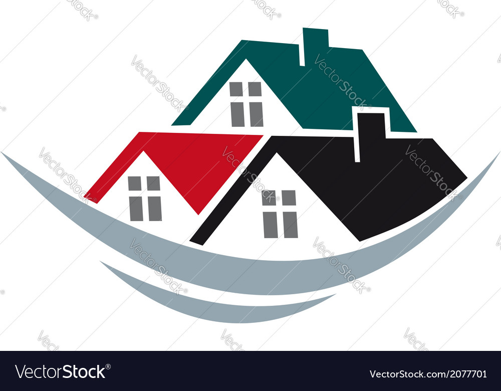 House roofs symbol vector | Price: 1 Credit (USD $1)