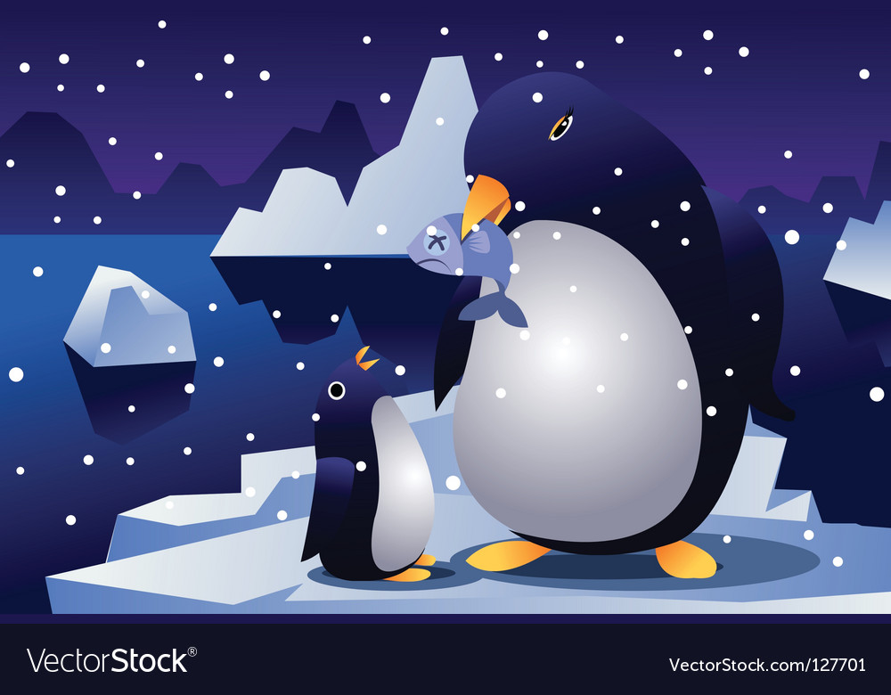 Penguin parent vector | Price: 1 Credit (USD $1)
