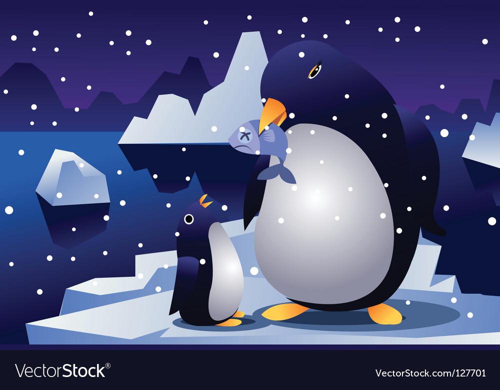 Penguin parent vector | Price: 1 Credit (USD $1)