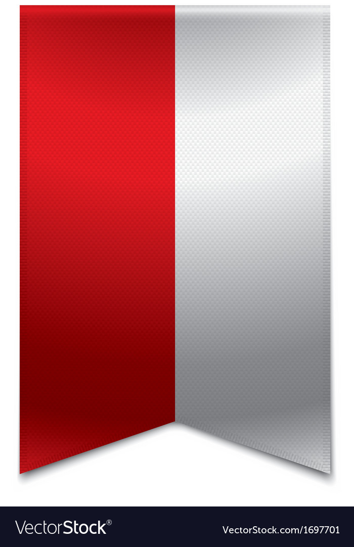 Ribbon banner - polish flag vector | Price: 1 Credit (USD $1)