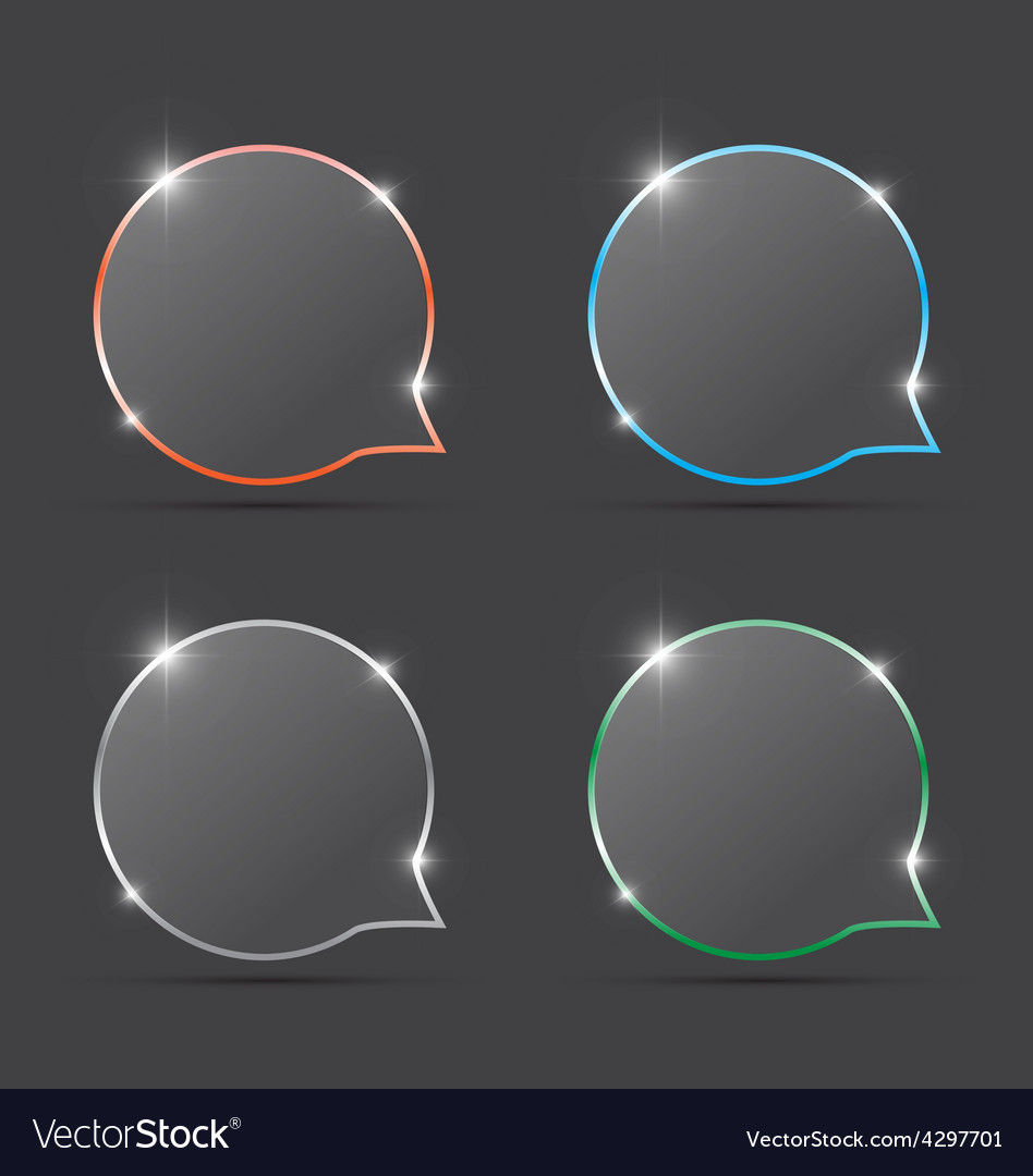 Speech bubbles with spark vector | Price: 1 Credit (USD $1)