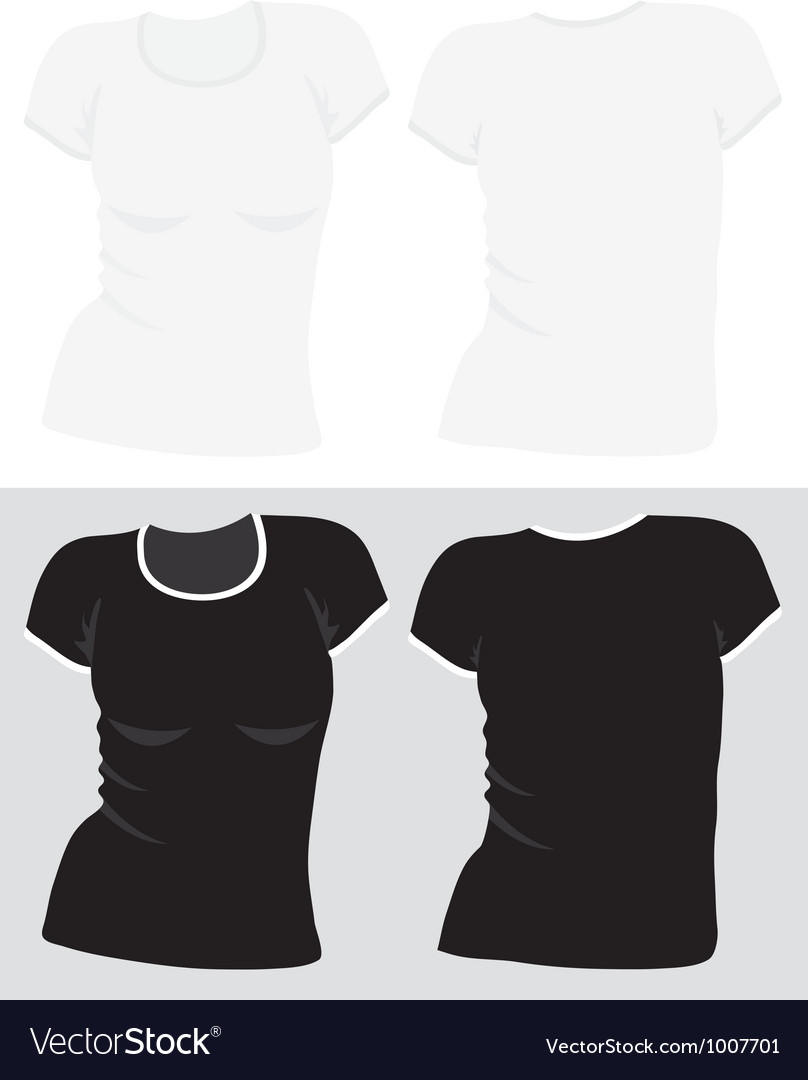 Womens t-shirt template vector | Price: 1 Credit (USD $1)