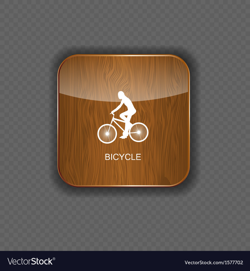 Bicycle wood application icons vector   Price: 1 Credit (USD $1)
