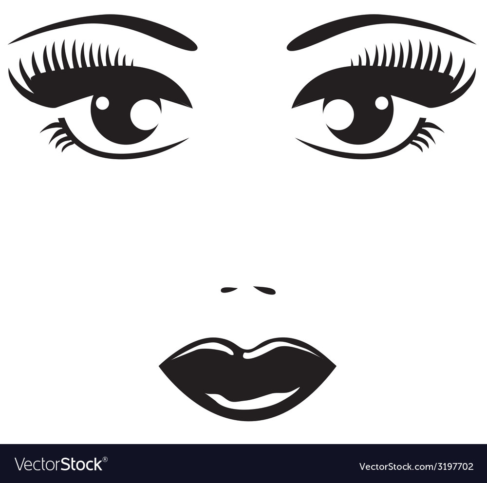 Black eyes vector | Price: 1 Credit (USD $1)