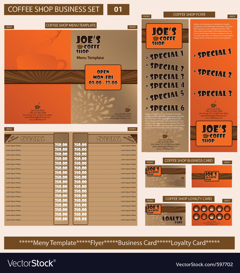 Coffee shop business template vector   Price: 5 Credit (USD $5)