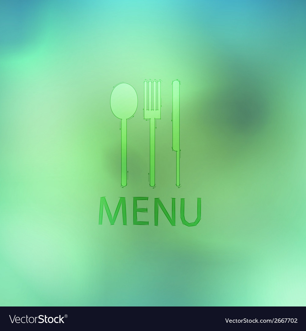 Fork and knife recycled stick on abstract backgrou vector | Price: 1 Credit (USD $1)