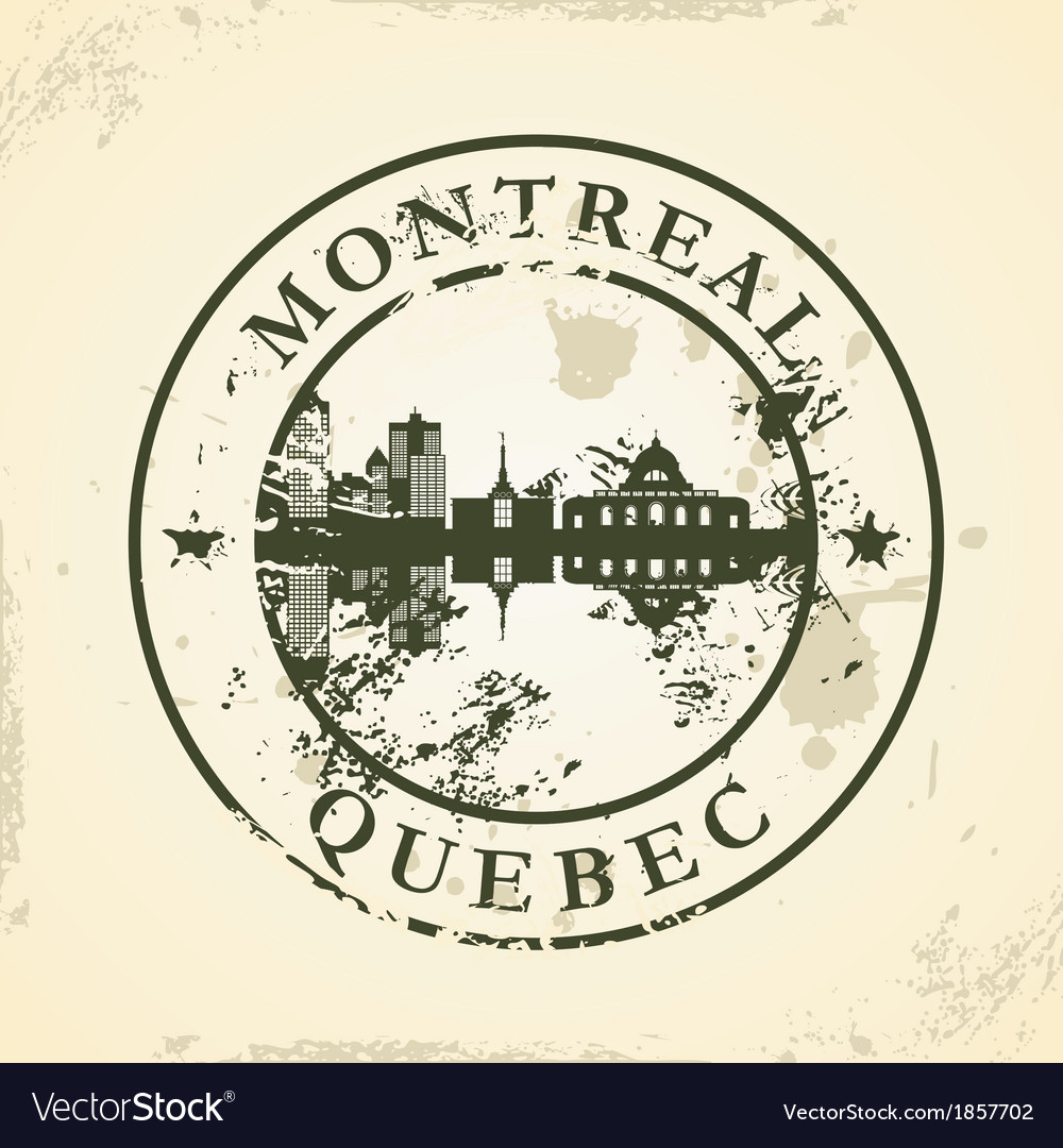 Grunge rubber stamp with montreal quebec vector | Price: 1 Credit (USD $1)