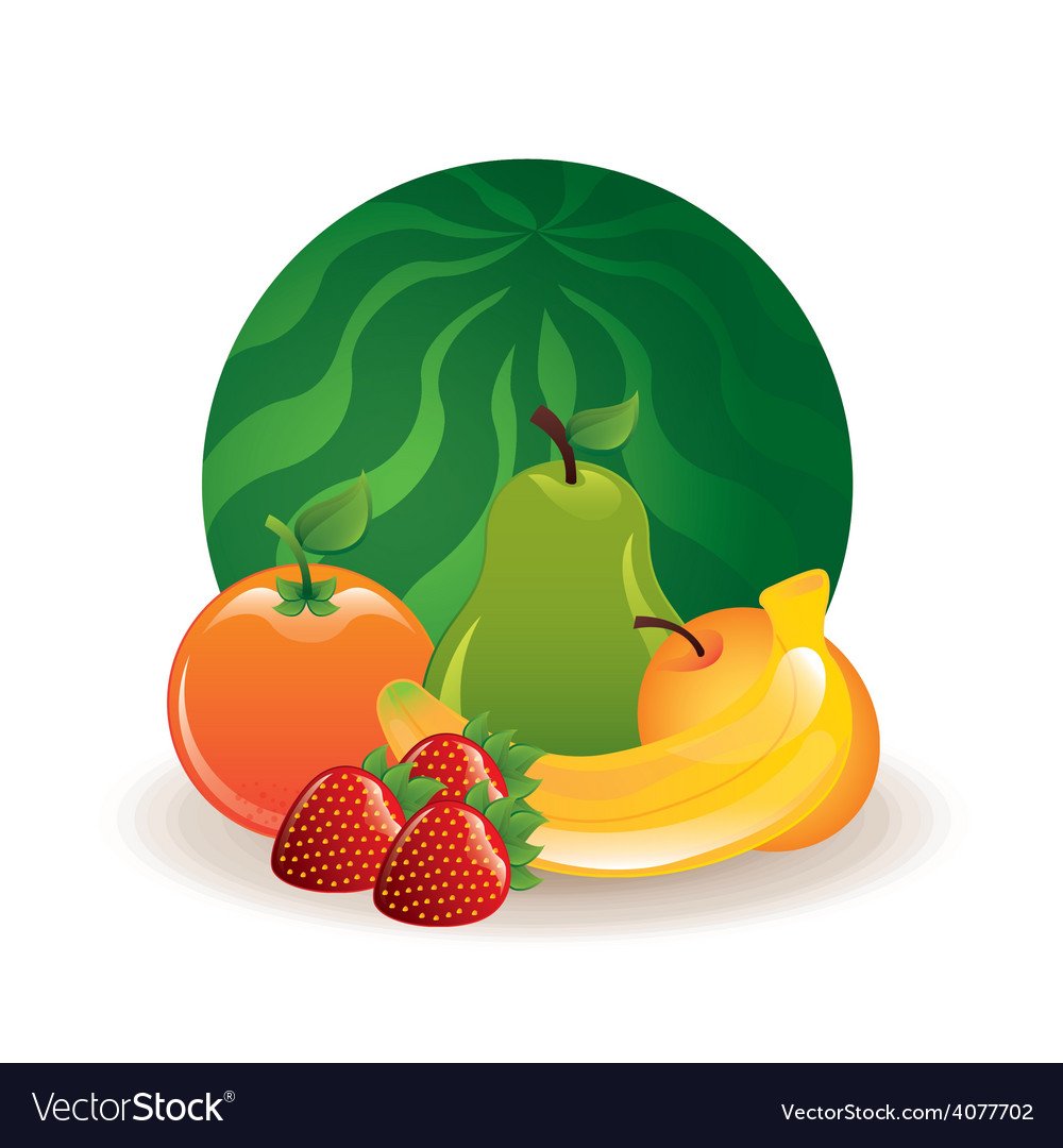 Healthy fruits vector | Price: 1 Credit (USD $1)