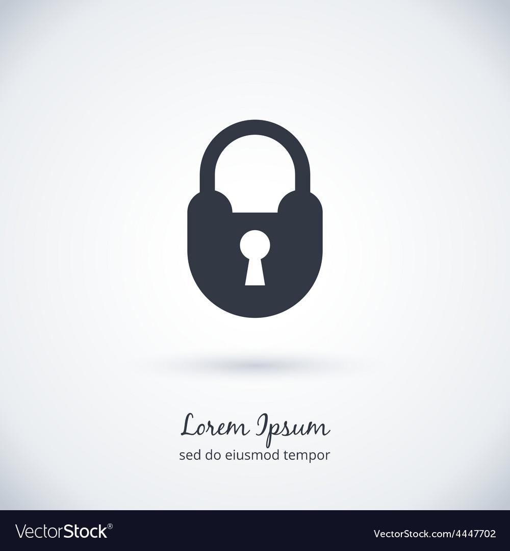 Lock logo symbol vector | Price: 1 Credit (USD $1)