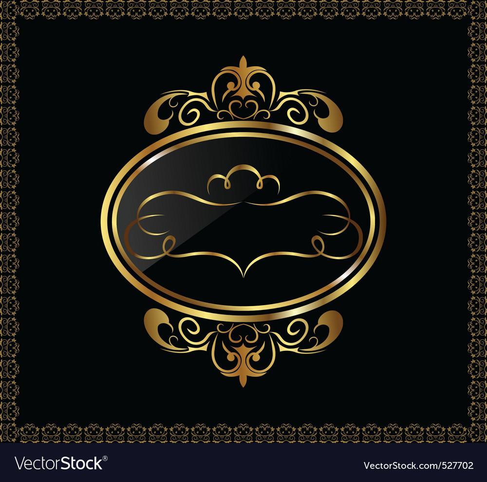 Luxury gold ornament with emblem vector | Price: 1 Credit (USD $1)