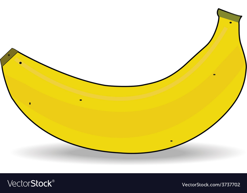 Ripe banana isolated vector | Price: 1 Credit (USD $1)