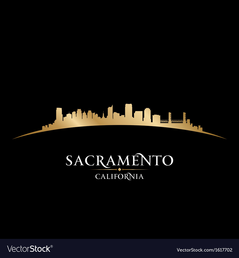 Sacramento california city skyline silhouette vector | Price: 1 Credit (USD $1)