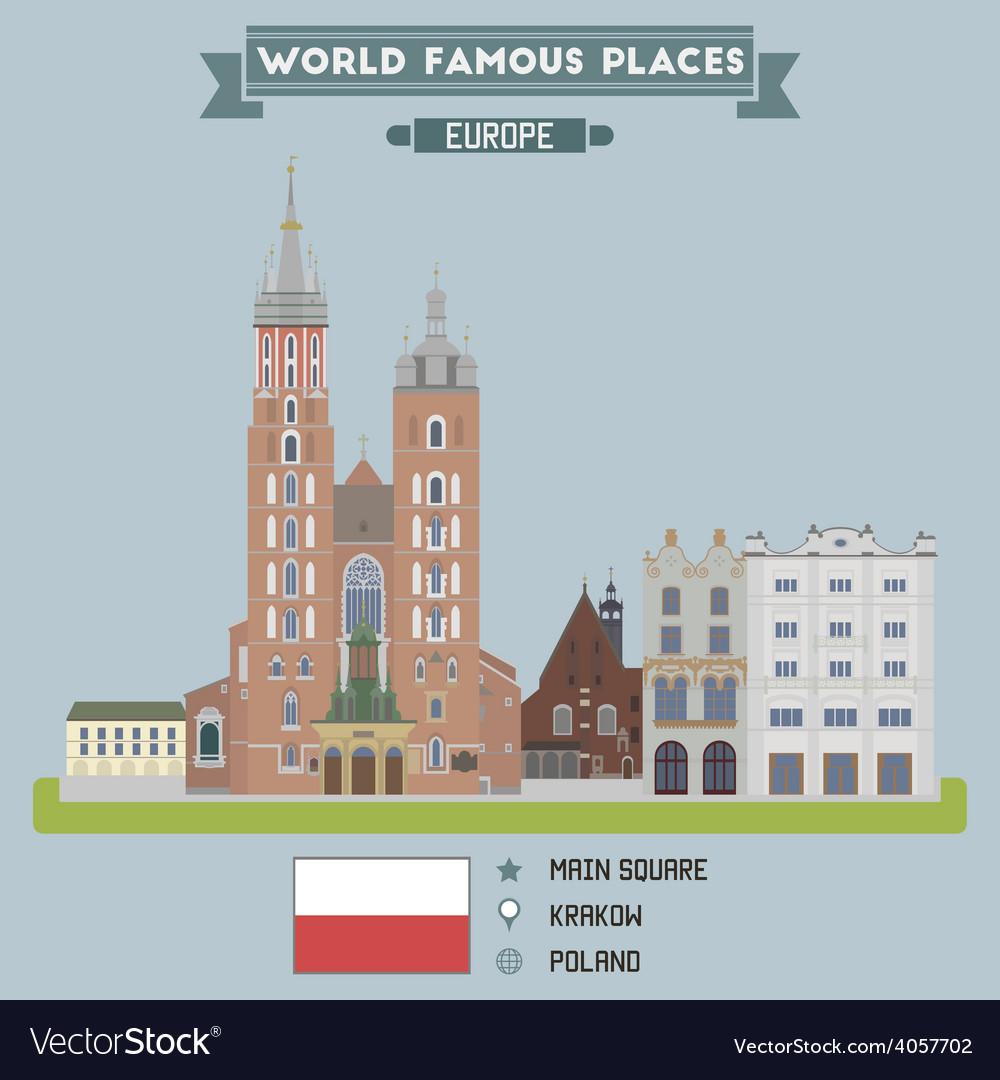 Square krakow vector | Price: 1 Credit (USD $1)