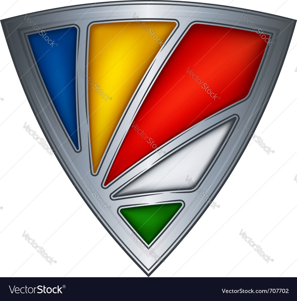 Steel shield with flag seychelles vector | Price: 1 Credit (USD $1)
