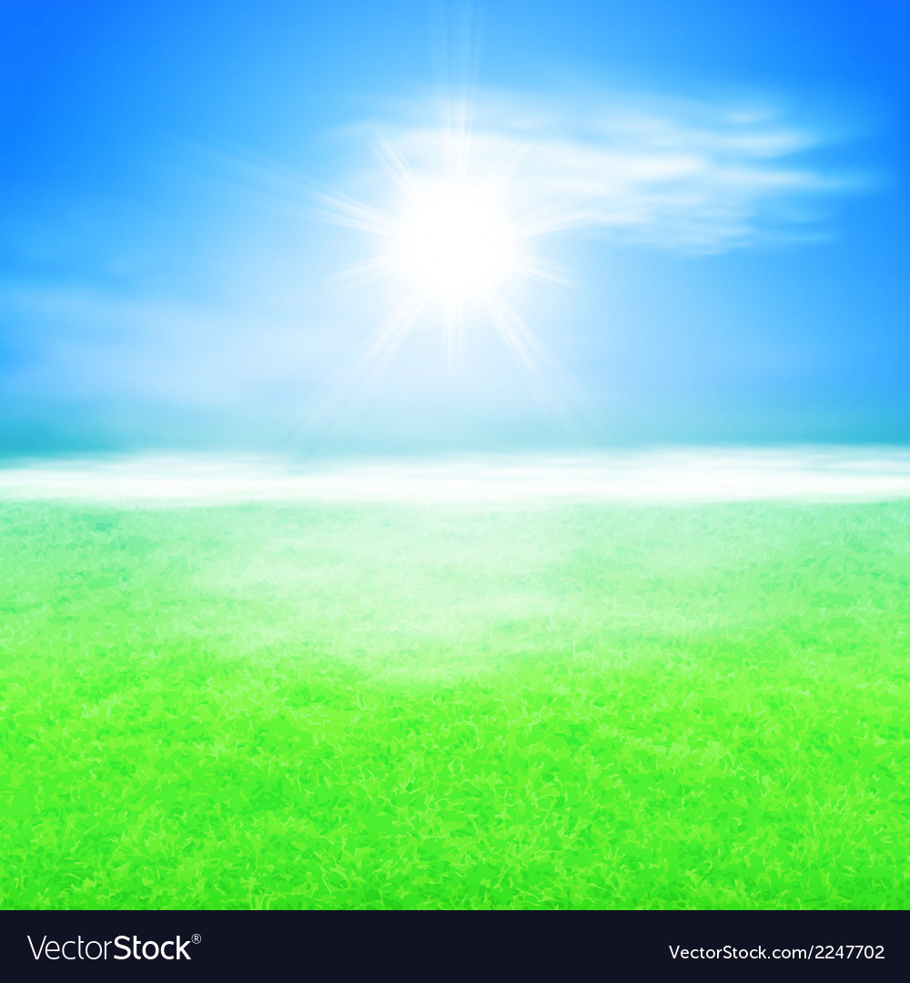 Summer sunshine background vector | Price: 1 Credit (USD $1)