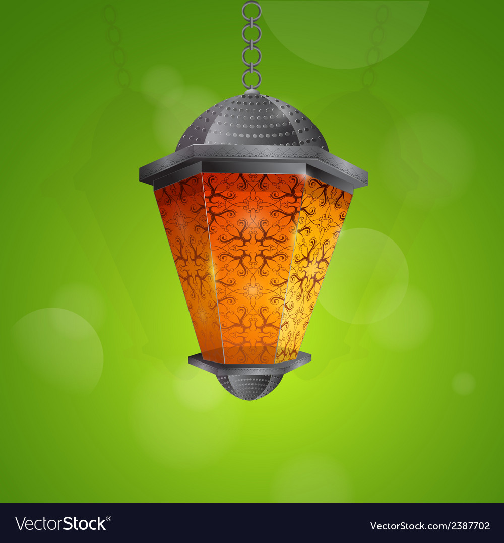 Traditional ramadan lantern vector | Price: 1 Credit (USD $1)