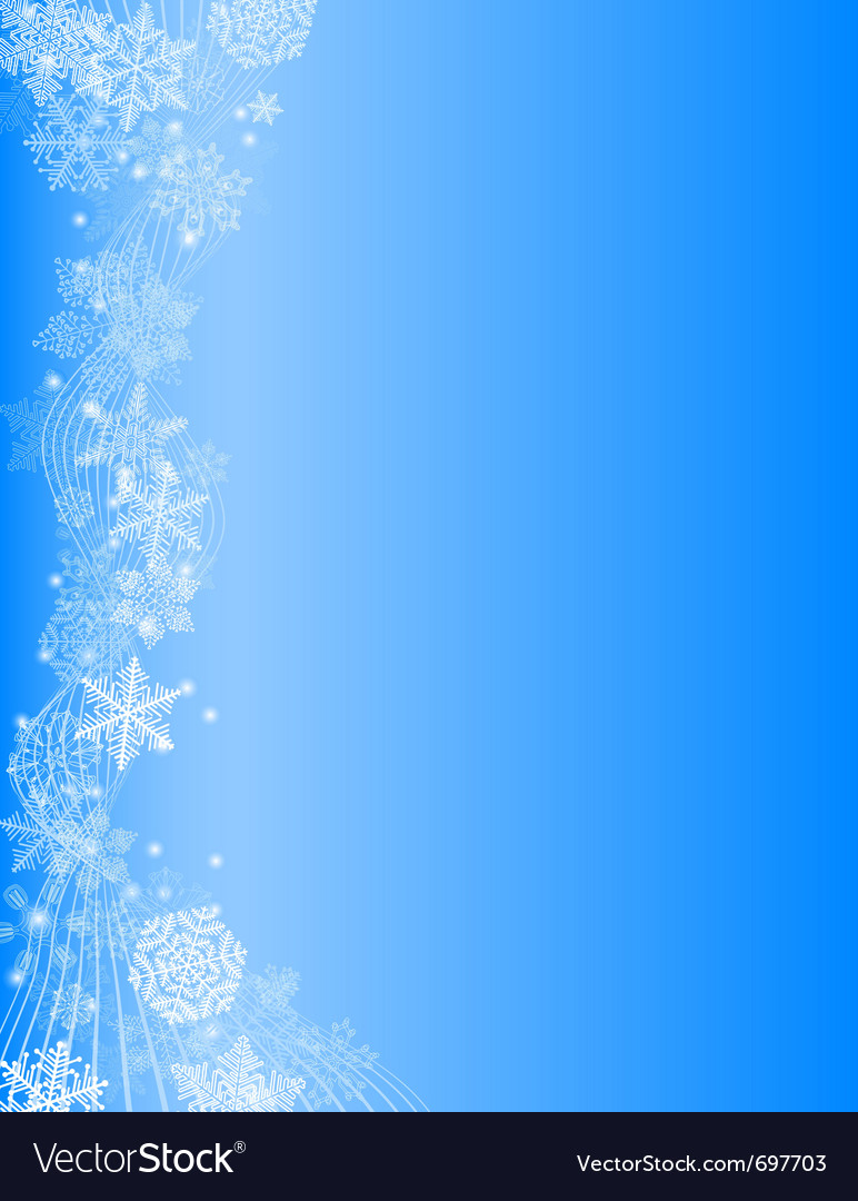 Abstract blue christmas background with white snow vector | Price: 1 Credit (USD $1)