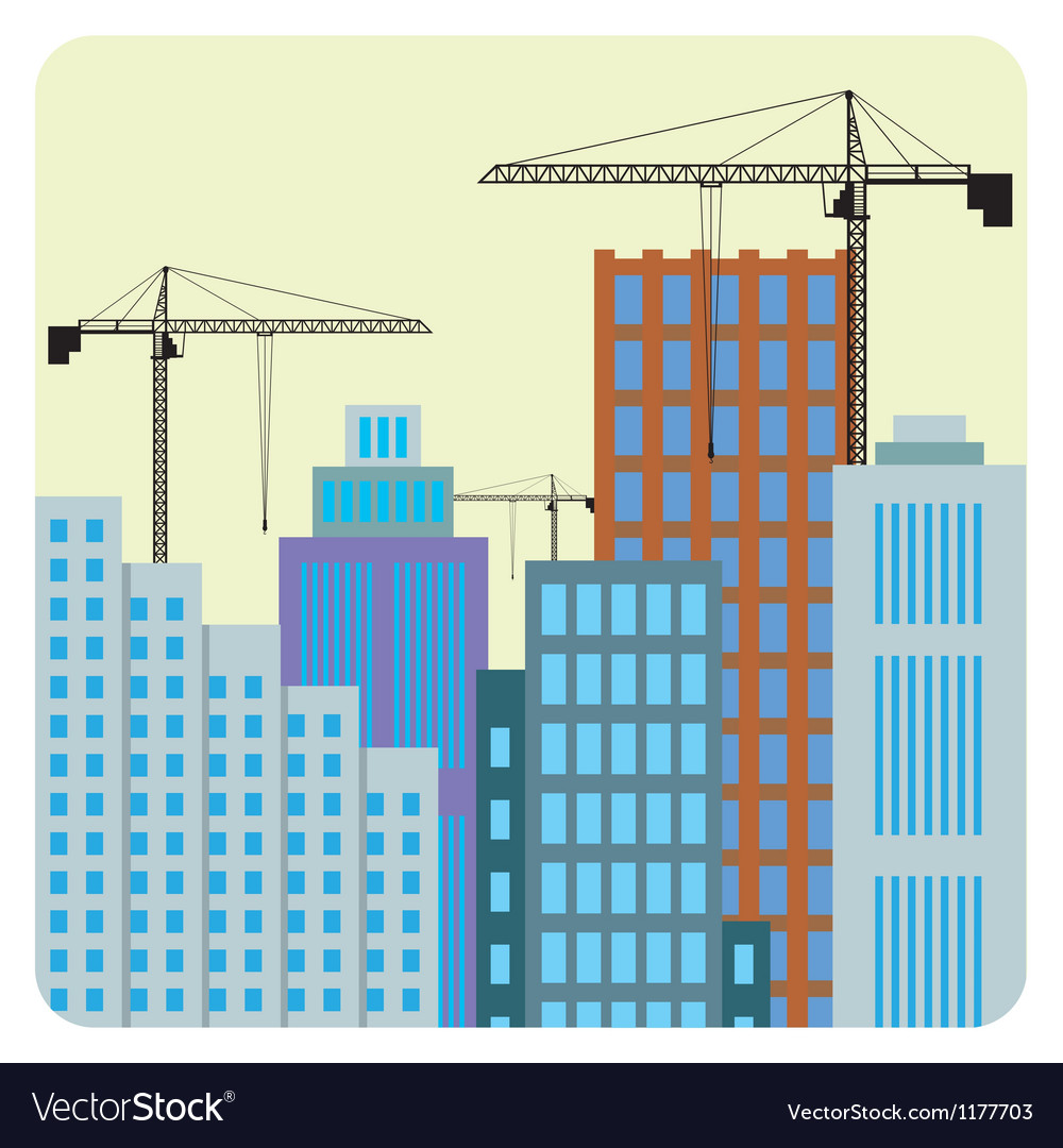 Buildings construction vector | Price: 1 Credit (USD $1)