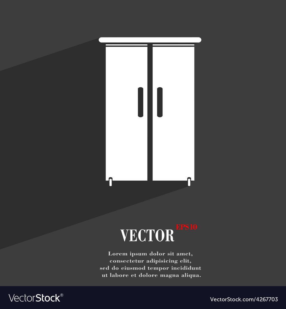 Cupboard icon symbol flat modern web design with vector   Price: 1 Credit (USD $1)