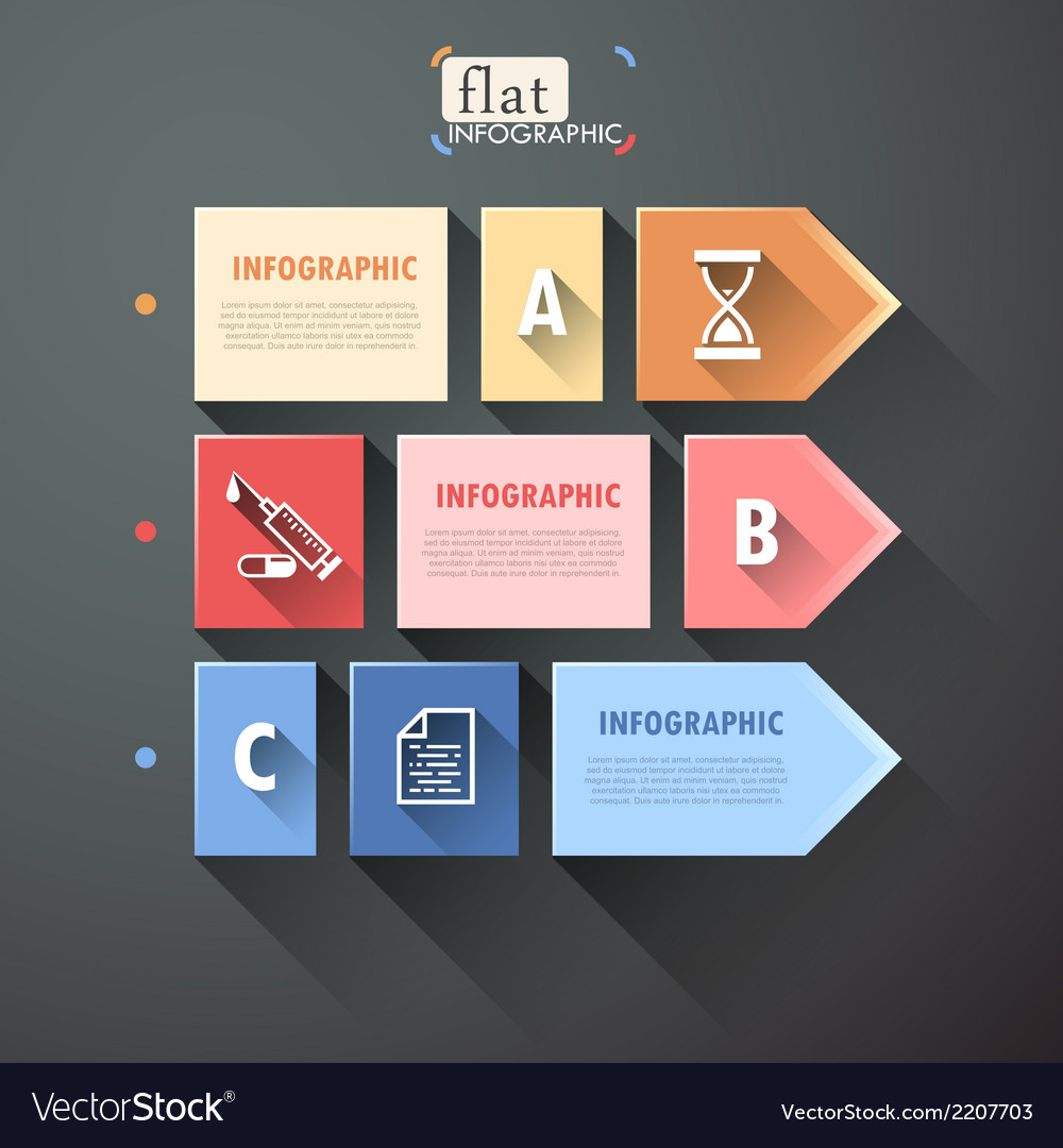 Flat infographic design vector | Price: 1 Credit (USD $1)