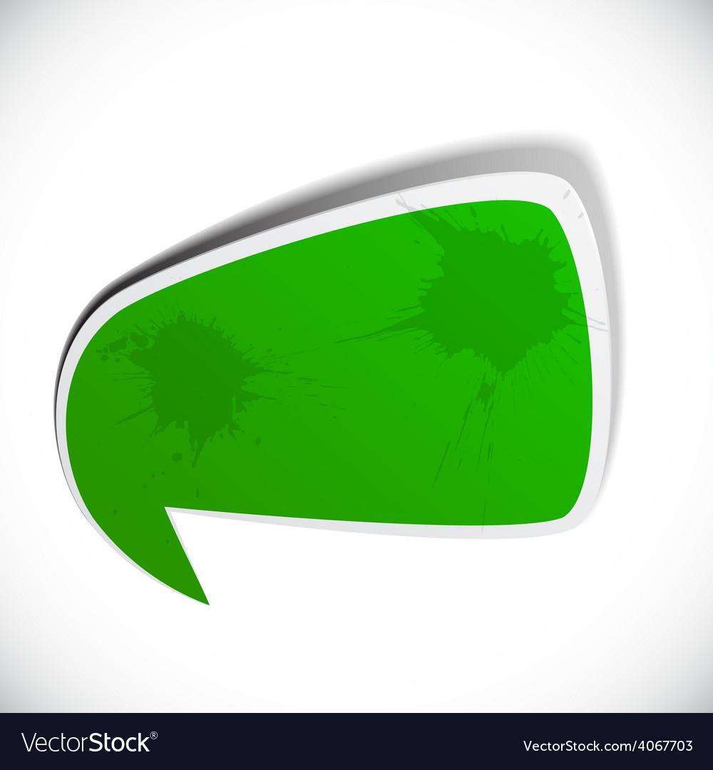 Green grunge speech label design vector   Price: 1 Credit (USD $1)