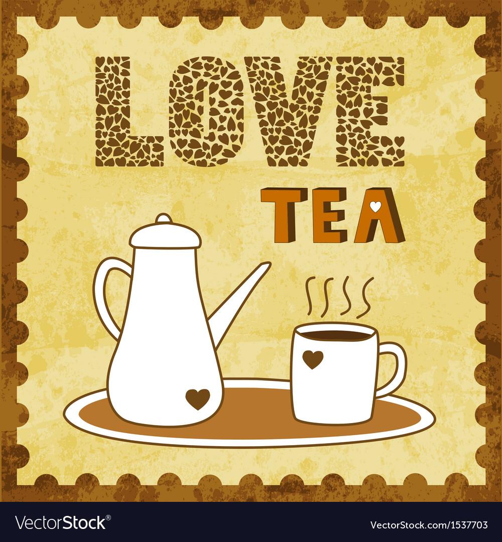 Love tea vector | Price: 1 Credit (USD $1)