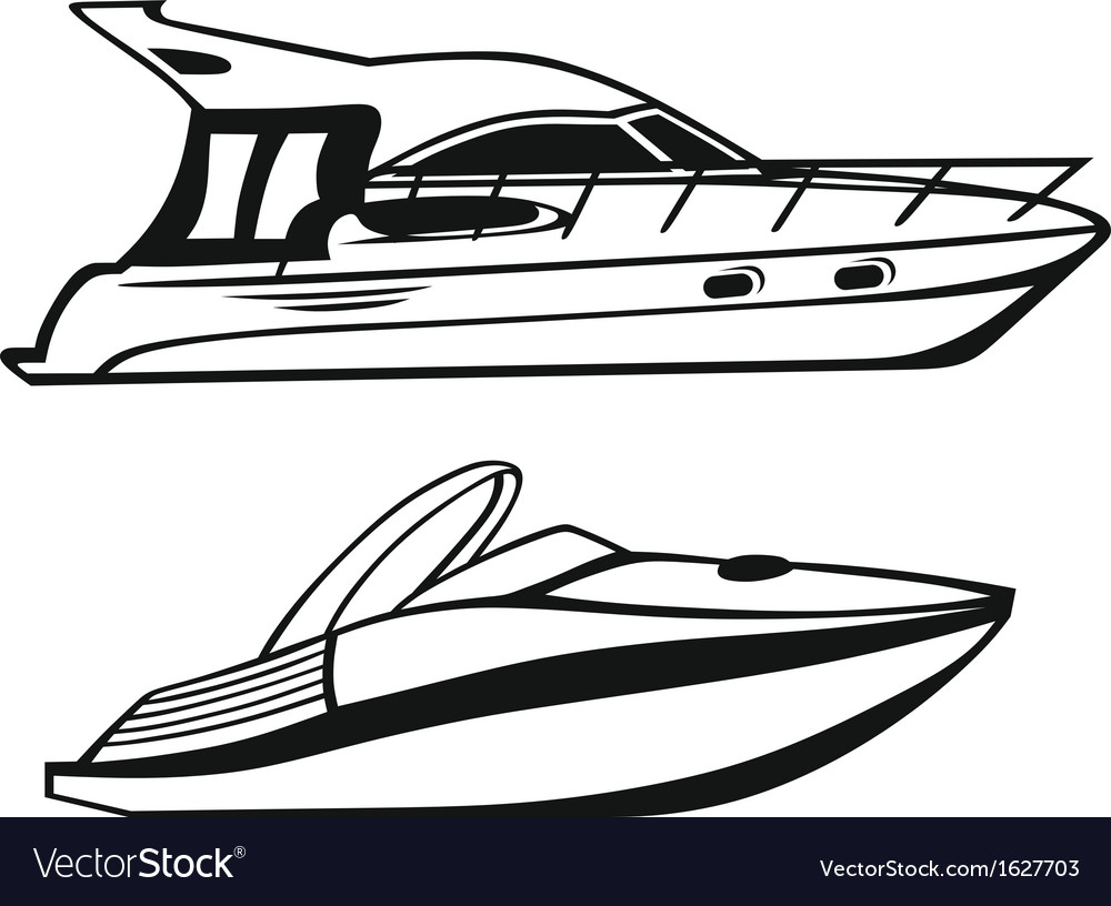 Luxury yacht vector | Price: 1 Credit (USD $1)