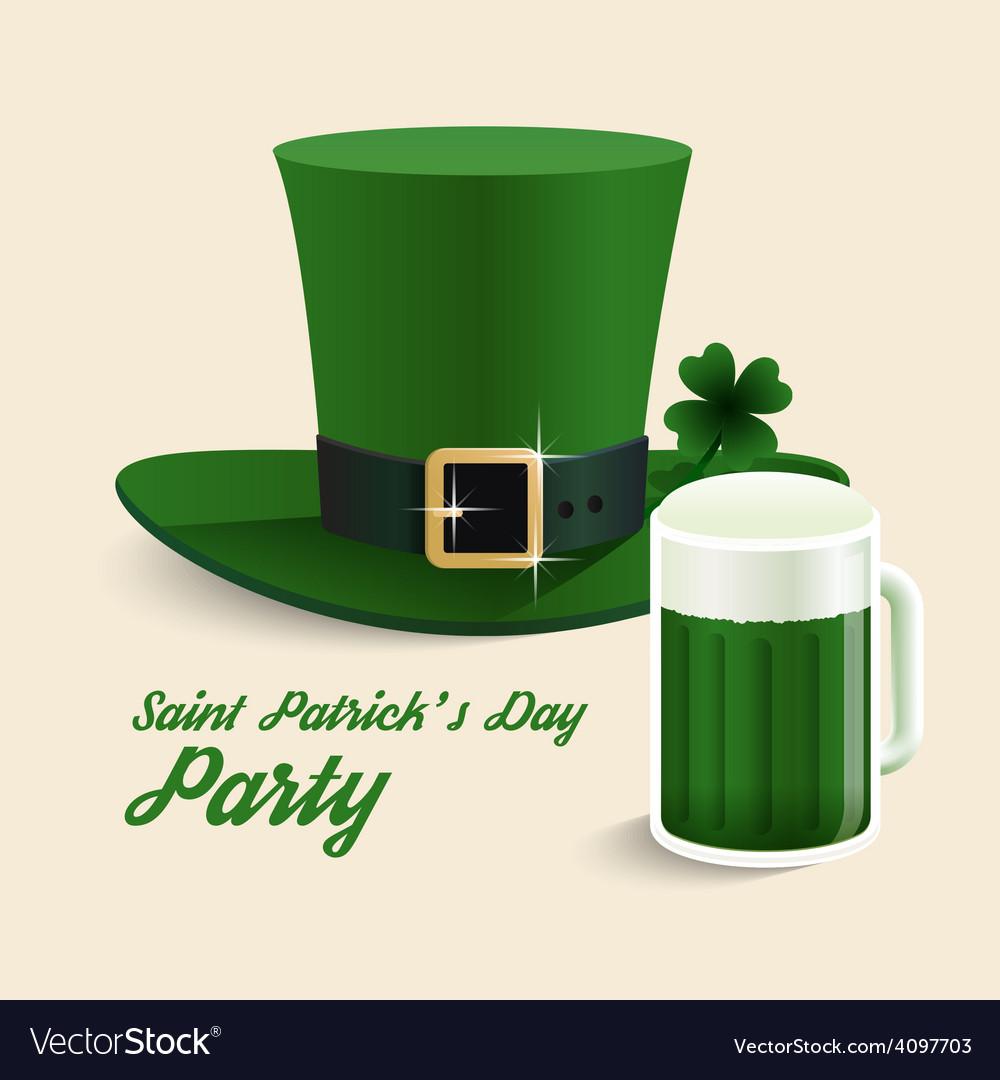 Modern design saint patricks day green hat vector | Price: 3 Credit (USD $3)