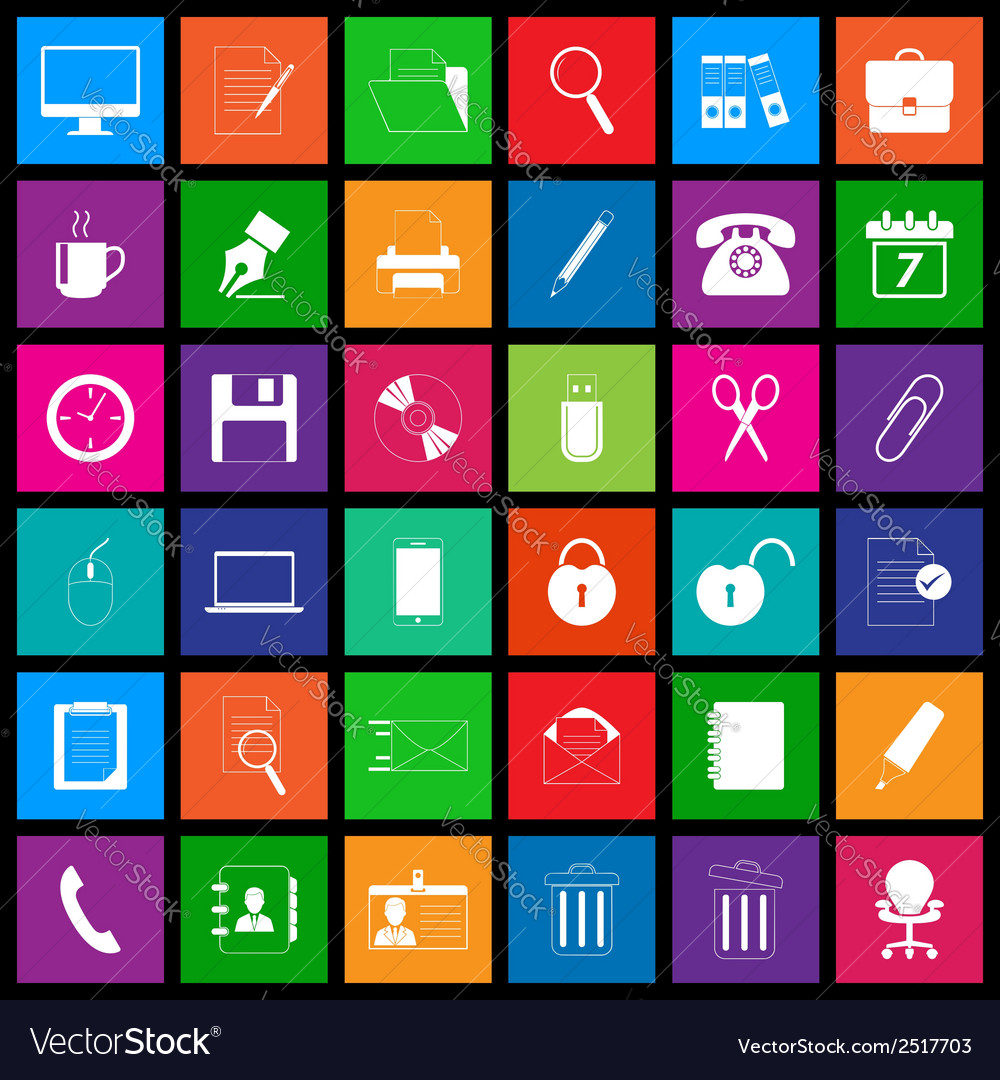 Office icon series in metro style vector   Price: 1 Credit (USD $1)