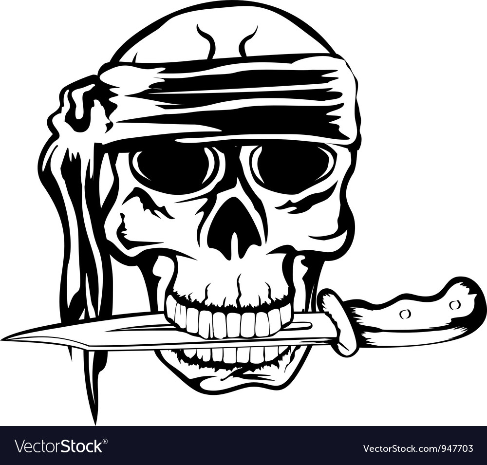 Pirate and dagger 2 vector | Price: 1 Credit (USD $1)